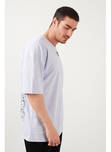 Buratti Buratti Oversize Erkek T-Shirt 5721017 Lila